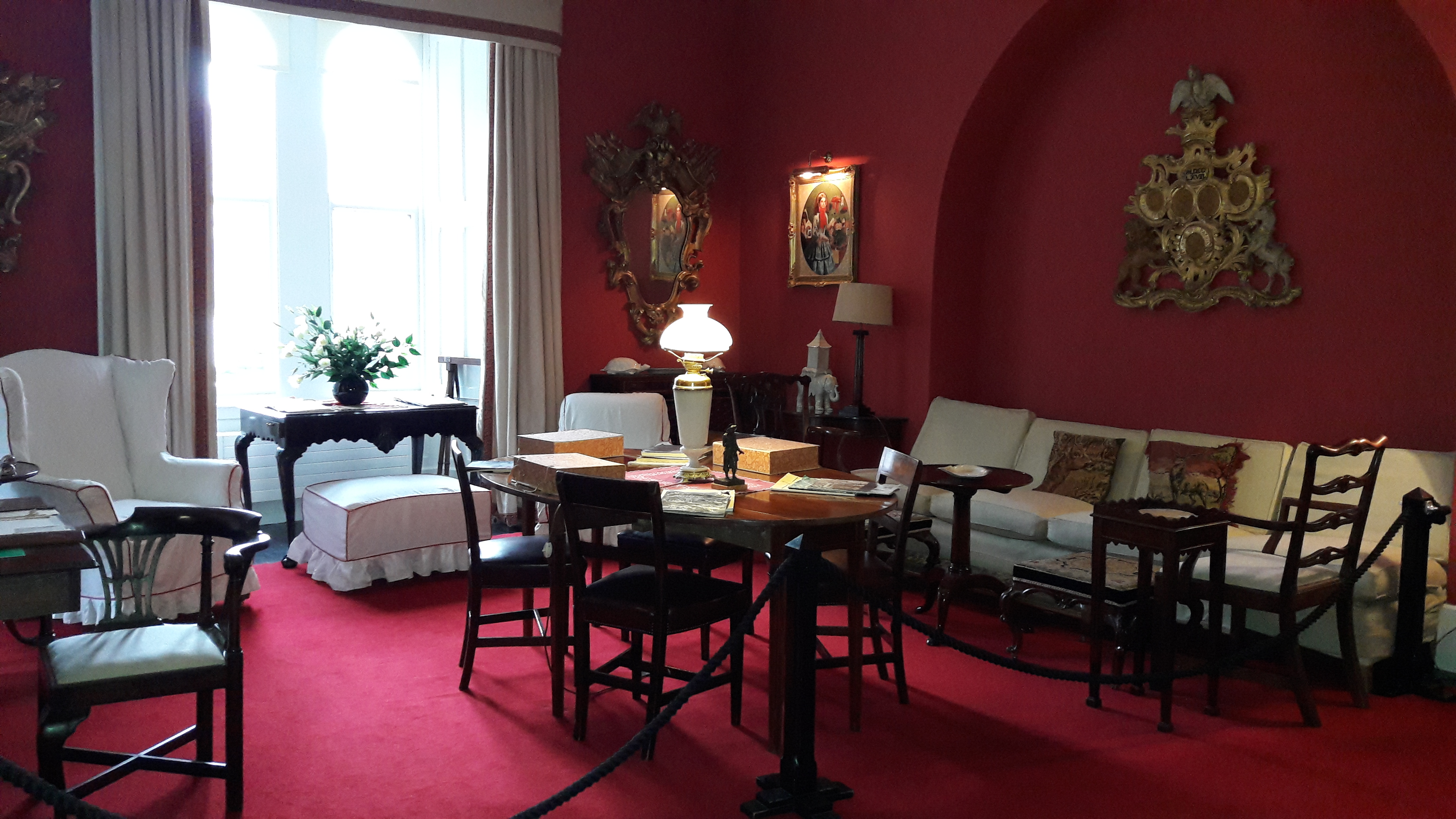 Red Room in Glenveagh Castle