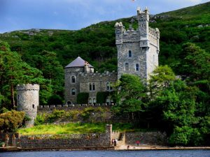 View from ground of Towers at Glenveagh Castle