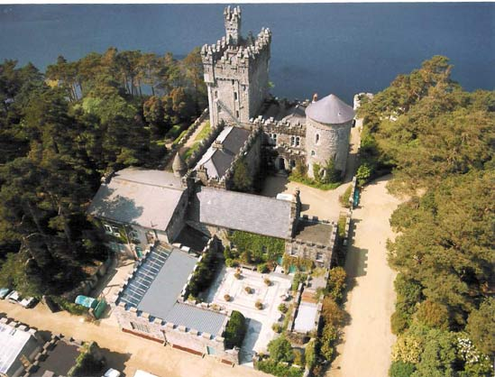 View from Sky of Glenveagh Castle